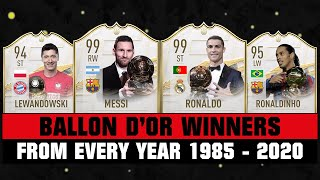 EVERY BALLON D'OR WINNER FROM 1985-2020! 😱🔥