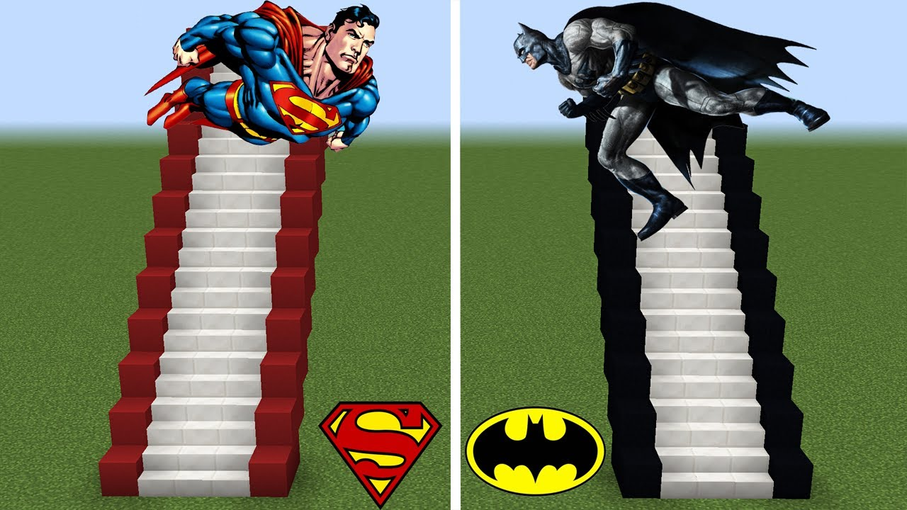 فلم ماين كرافت : درج باتمان الفقير ضد درج سوبرمان الغني !!؟ 🔥😱