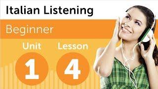 Italian Listening Comprehension - Listening to a Italian Forecast