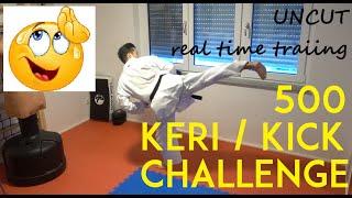 500 KICK CHALLENGE - karate kick challenge - uncut - real time training - TEAM KI