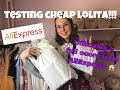 UNBOXING and TESTING LOLITA from ALIEXPRESS!! Cheap lolita review!