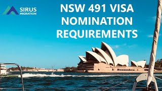 NSW 491 STATE NOMINATION REQUIREMENTS