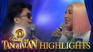 Tawag ng Tanghalan: Vhong and Vice Ganda argue about which part of the stage they will stand