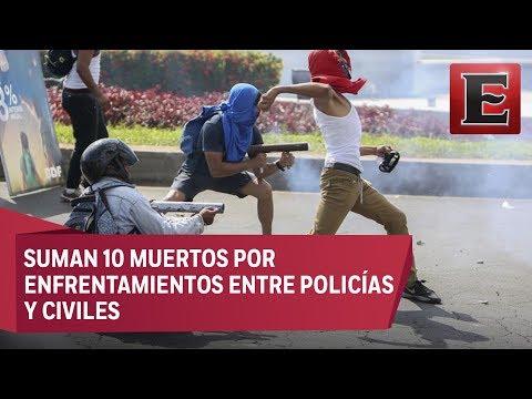 No cesan las protestas en Nicaragua en contra una reforma a la seguridad social