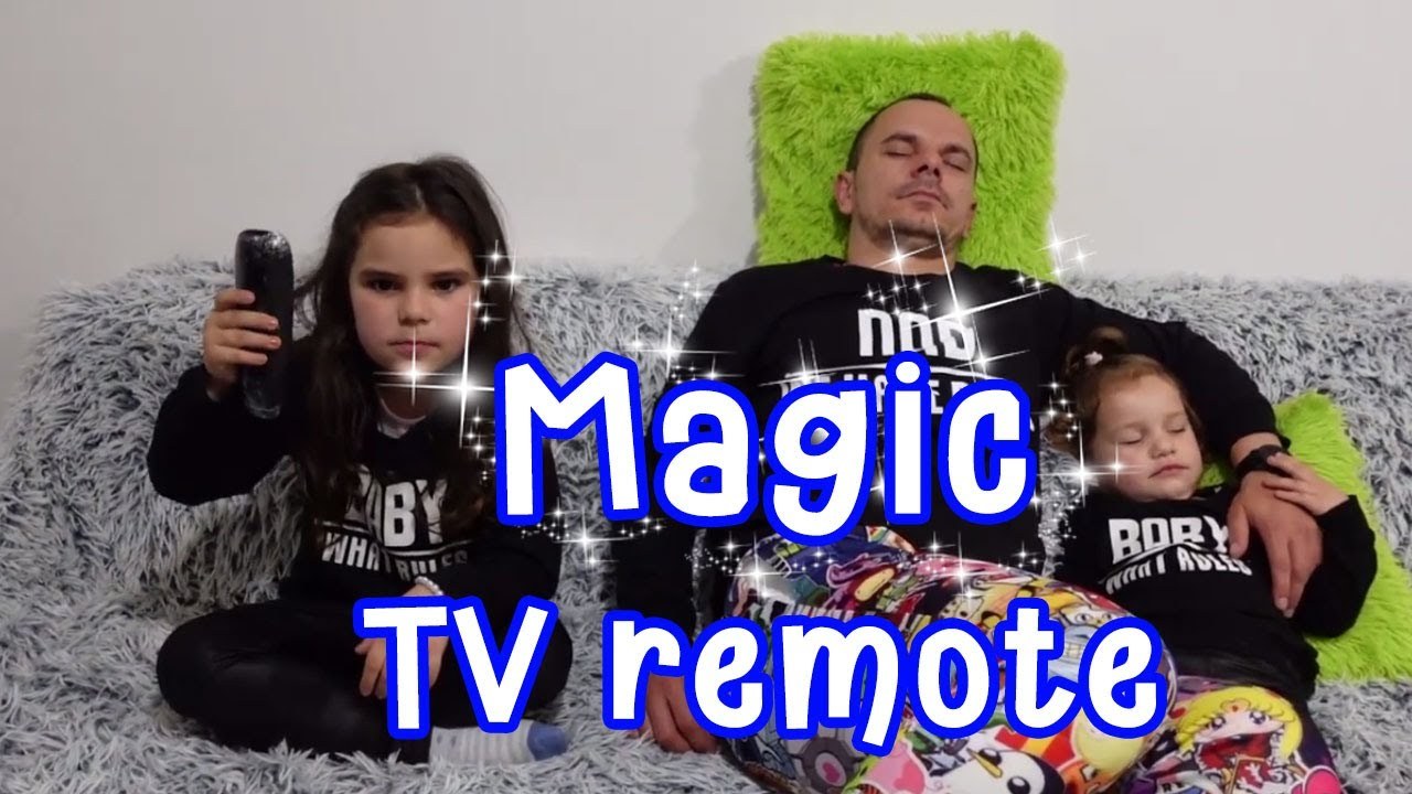 Rihanna & Sajra and Magic TV remote| funny stories for kids |