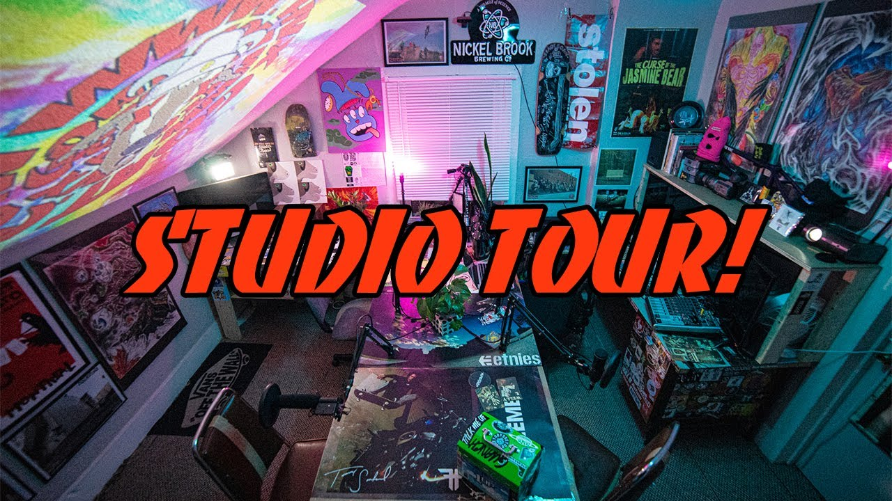 Welcome To The Goat Cave! (Studio Tour)