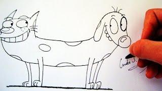 Como Desenhar o CatDog - (How to Draw CATDOG) - SLAY DESENHOS #91