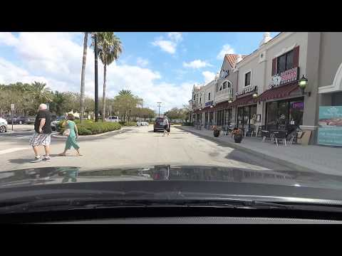 Doctor Phillips Shopping And Restaurants Drive Tour - Sand Lake Road Orlando