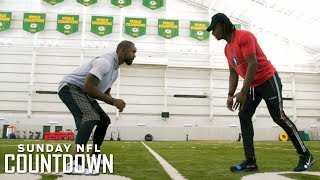 Packers WR Davante Adams demonstrates his release off the line | NFL Countdown | ESPN