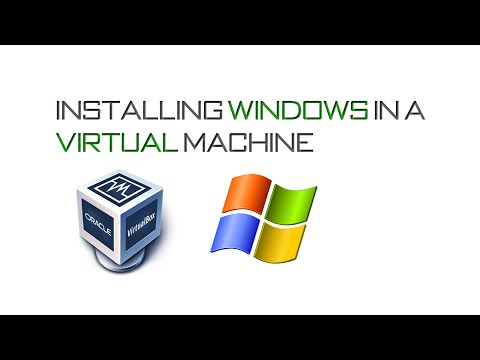 How to Install Windows in a Virtual Machine with Oracle Virtual Box.