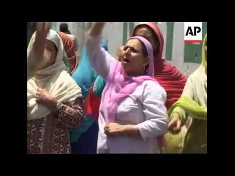 Police disperse demonstrators after more protests over Hindu shrine