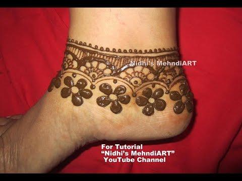 Mehndi Ankle Instagram : Unique floral anklet ornament inspired henna mehndi design tutorial