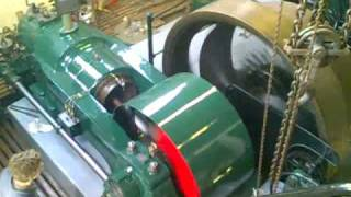 Gas Engine Starting, Running and Slowing down at Cambridge Museum of Technology