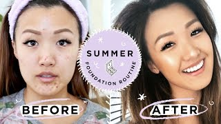 Summer Foundation Routine | THAT ACTUALLY STAYS ON | ilikeweylie
