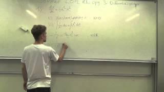 Matematik B - Eksamensopgaver: Sommer 2012 re delopgave 3: Differentialligninger