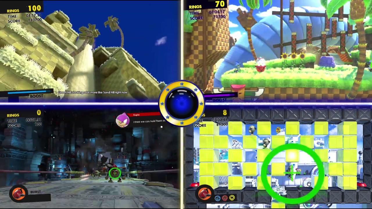 Sonic Forces 4 screens Comparison