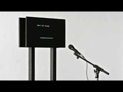 Favorite new art project: A computer that emotionally sings '90s ballads