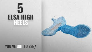 Top 10 Elsa High Heels [2018]: URAQT Girl Child Fancy Shoes Princess Queen Elsa Blue Cute