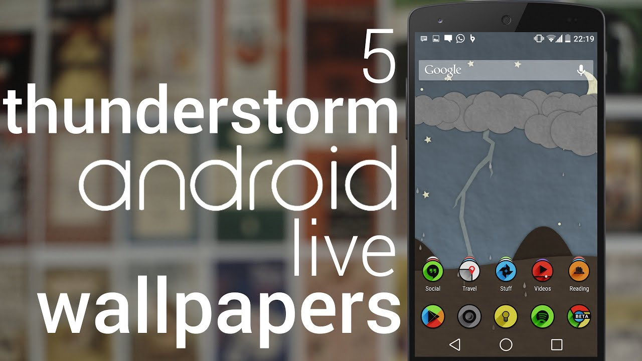 Top 5 Thunderstorm Live Wallpapers for Android