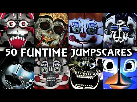 50 FUNTIME JUMPSCARES! | FNAF & Fangame