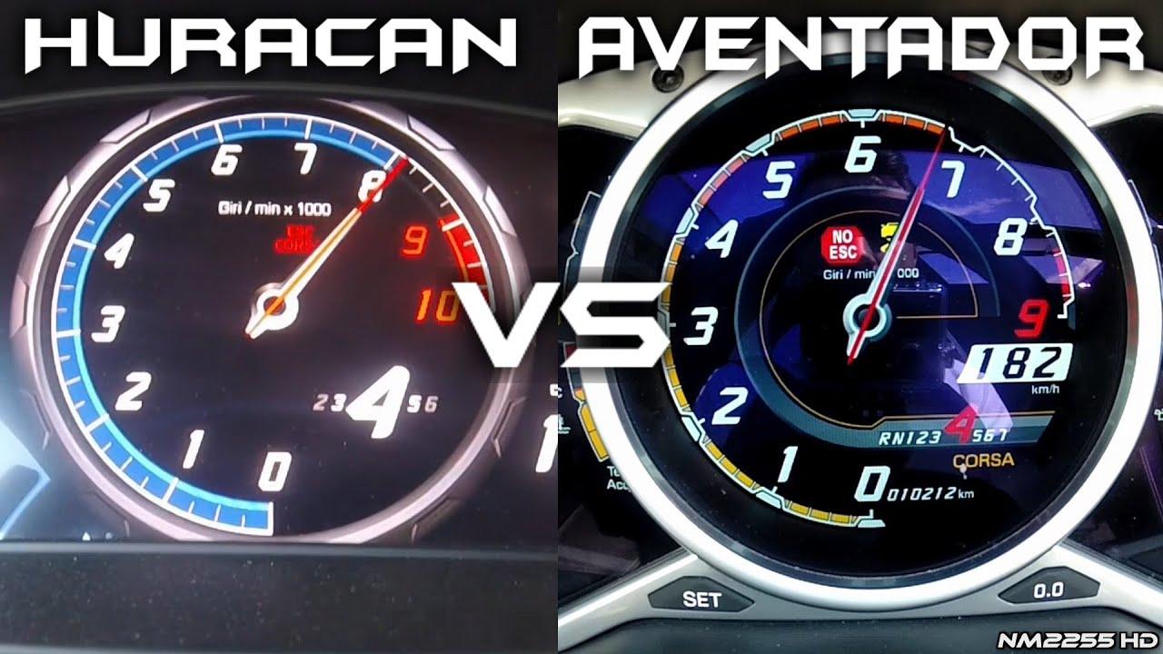 Lamborghini Aventador 0 200km H Acceleration Comparison