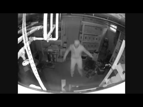Dude Hides From A Swat Team In A Warehouse Closet!