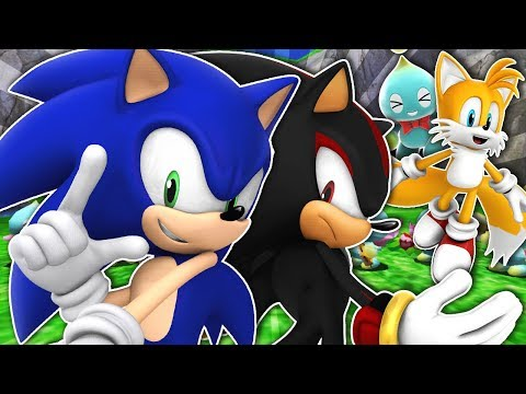 Sonic, Shadow & Tails Visit Chao Garden! (VR Chat)