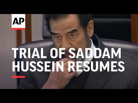 Trial of Saddam Hussein resumes