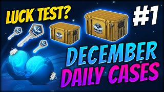 DOING A LUCKY TEST?? ★ DECEMBER DAILY CASES DAY 1 - CS:GO CASE OPENING / UNBOXING