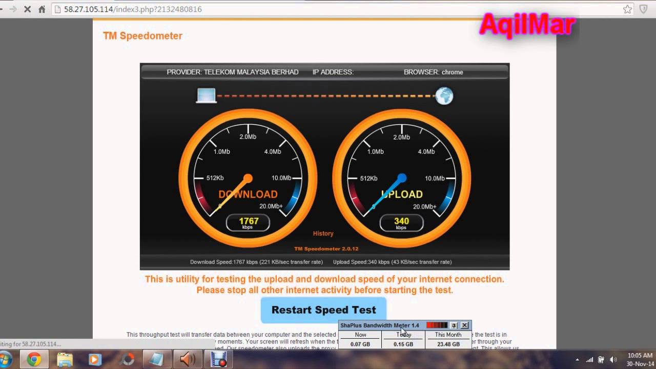 Upgdrade Streamyx 1mbps To 2mbps Test Speedometer Download Youtube