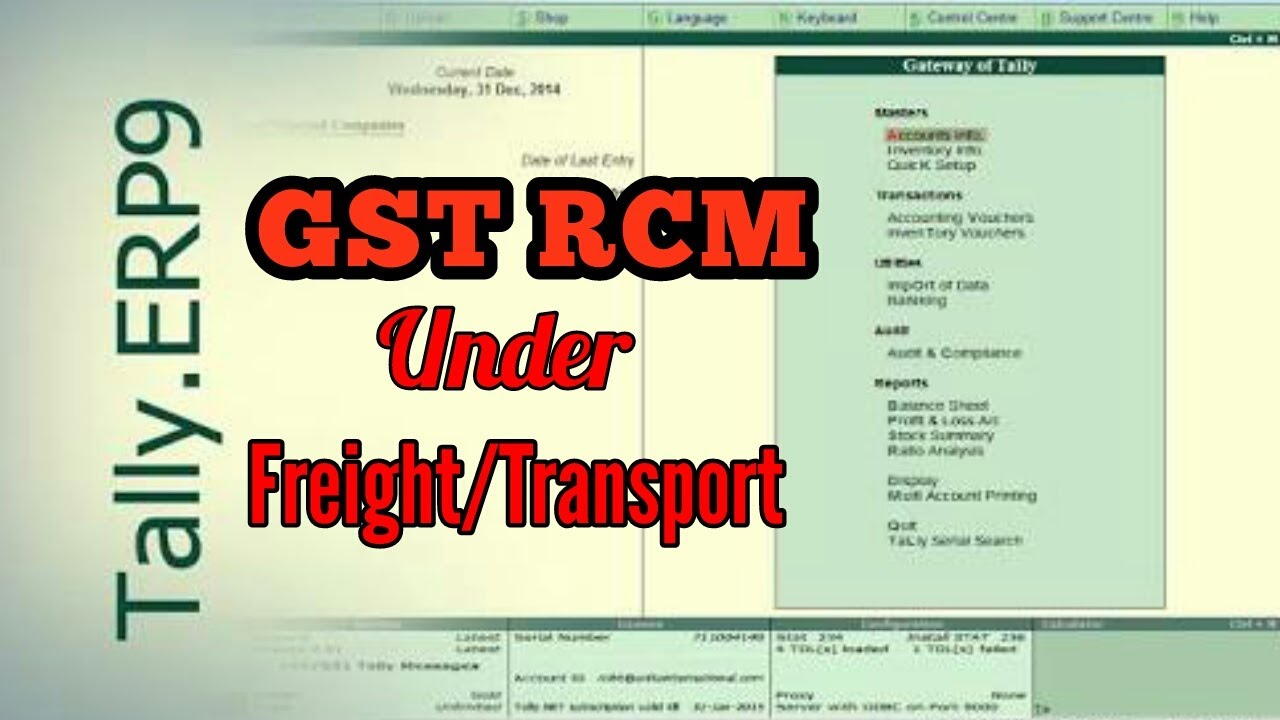 Part 2 Gst Reverse Charge On Sale With Freight Transport Gst