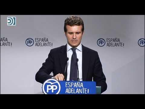 Pablo Casado asegura que el PP no ha pedido la dimisión de Esperanza Aguirre