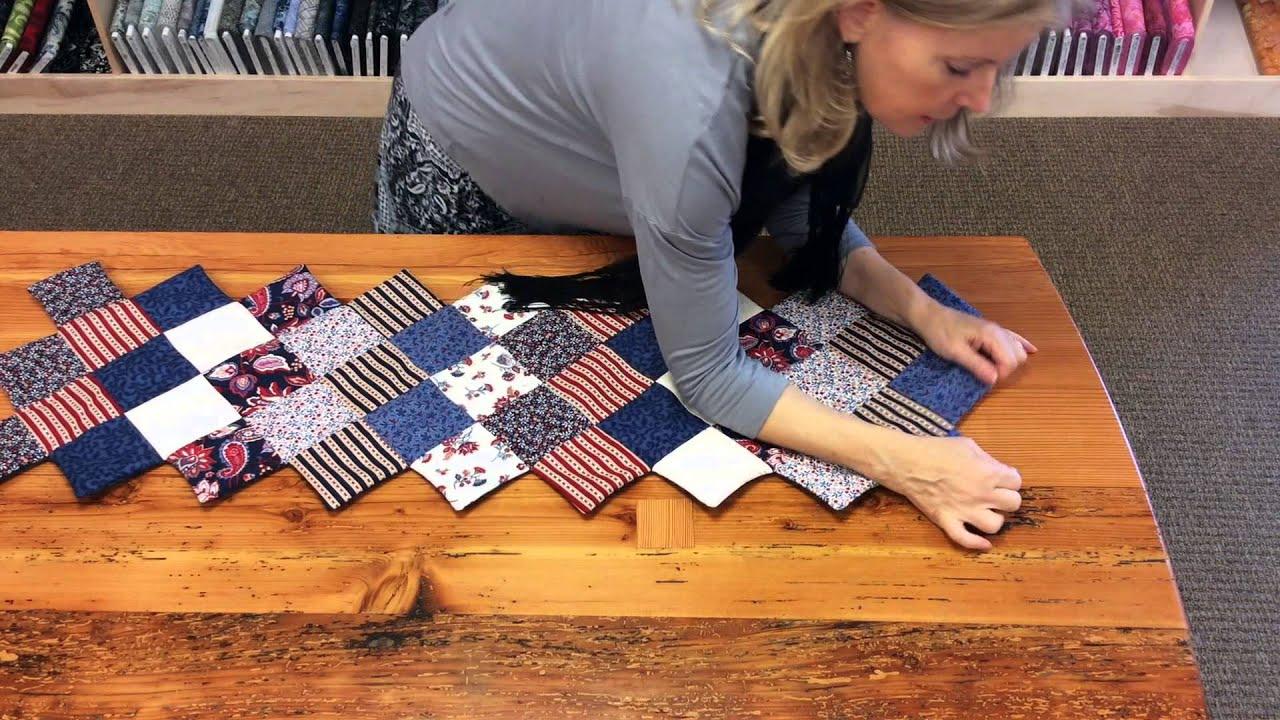 Jordan Fabrics Jagged Edge Table Runner Tutorial How To