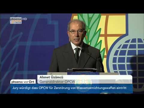 Friedensnobelpreis: Ahmet Üzümcü zum Erhalt des Preises am 11.10.2013