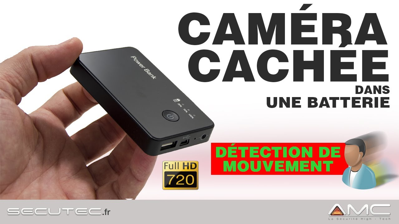batterie camera espion hd avec d tection de mouvement secutec fr youtube. Black Bedroom Furniture Sets. Home Design Ideas