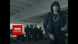 Eminem's video message: 'We're not afraid of Trump' - BBC News