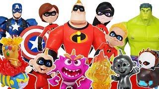 Incredibles 2 Disney Toybox, Avengers Go~! Hulk, Spider Man, Iron Man, Captain America Toys Play