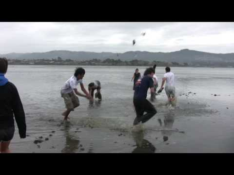 Playing in the mud flats at Morro Bay