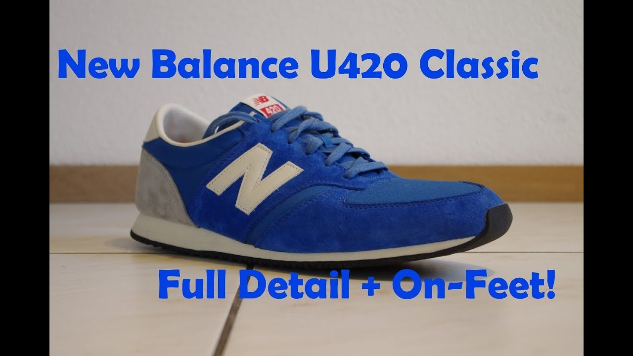 new balance u420. new balance u420 classics \u0027royal blue\u0027 - full detail \u0026 on-feet! youtube