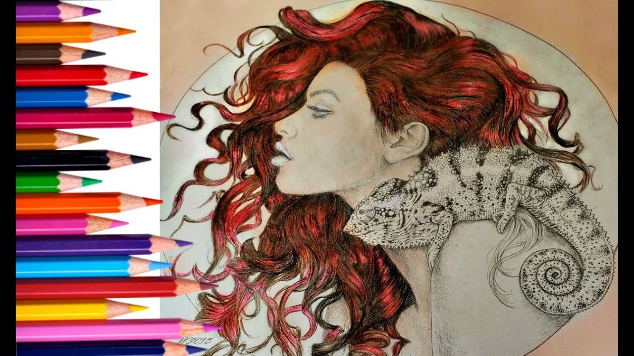 - Realistic Hair Demo In A Coloring Book Pt 2 Of 2 - YouTube