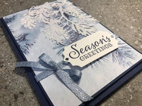 Episode 220 Stampin Up! Peaceful Boughs White Shimmer Stamping With DonnaG!