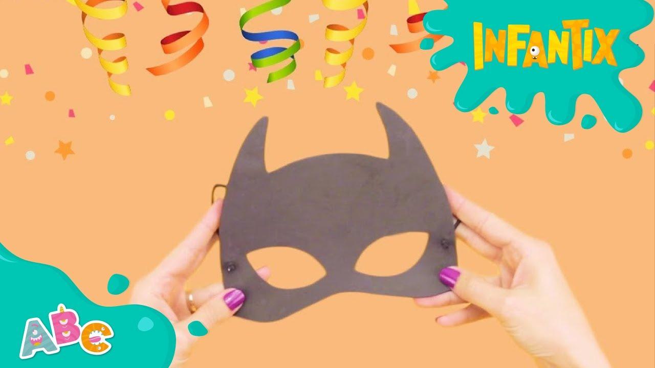 Como Fazer A Mascara Do Batman Carnaval Infantix Youtube