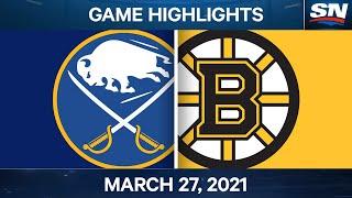 NHL Game Highlights   Sabres vs. Bruins – Mar. 27, 2021