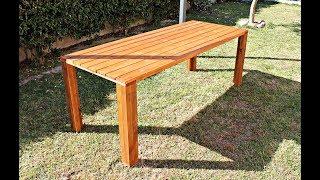 Tavolo Da Giardino In Legno Fai Da Te Costruire Un Tavolo Youtube