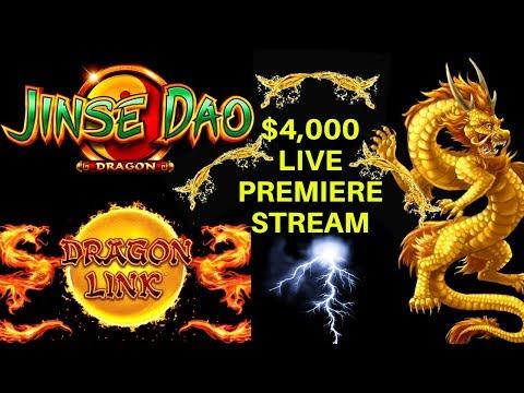 $4,000 Live Slot Play! Dragon Link , Jinse Dao Slot, High Limit Konami Slot, High Limit Blazin Gems