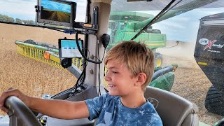 10 Year Old Grain Cart Driver