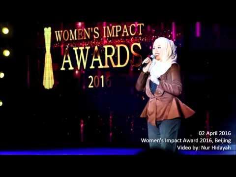 Shila Amzah  and Yang Lan-  Women's Impact Awards 2016- Beijing