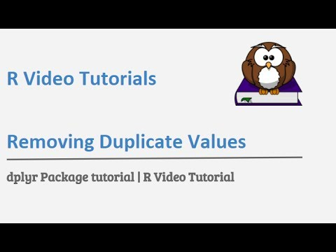 dplyr tutorial | how to find distinct values using dplyr distinct function  | R Programming tutorial