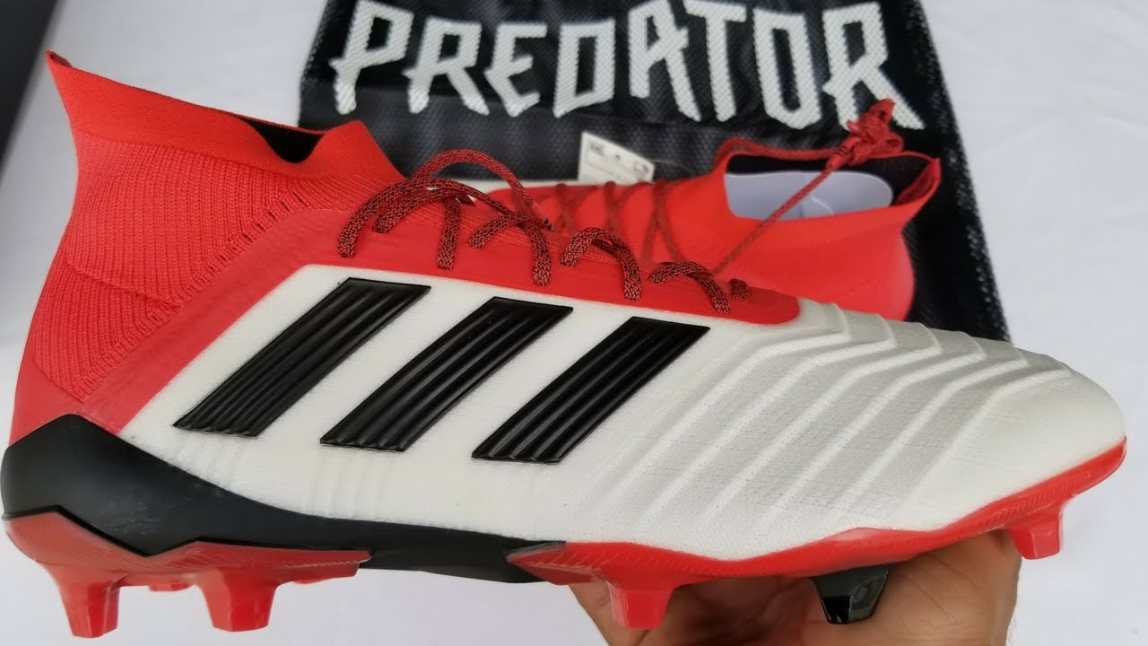 fa581a877d33 Unboxing : Adidas Predator 18.1 -White/Black/Red | Cold Blooded Pack ...