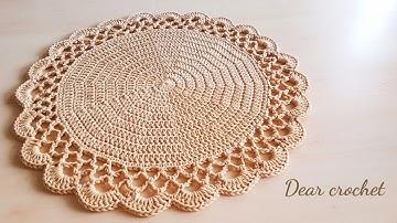 [코바늘 기초]한길긴뜨기 원형뜨기로 코바늘 테이블 매트,코바늘 코스터,러그뜨는방법(crochet mat rug coaster)